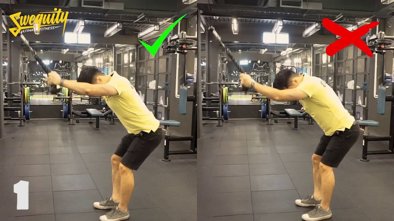 [LU08] Tập lưng – Straight Arms Rope Pull Down