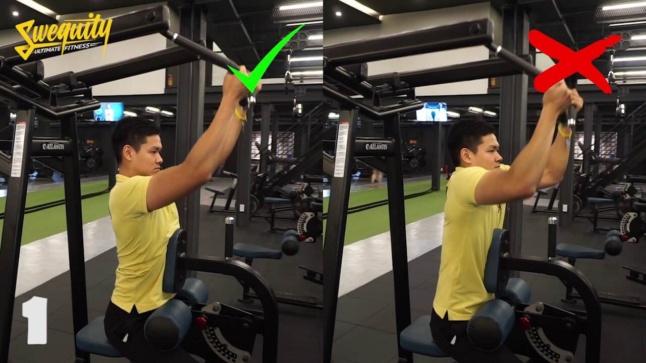 [LU10] Tập lưng – Front Leverage Pulldown