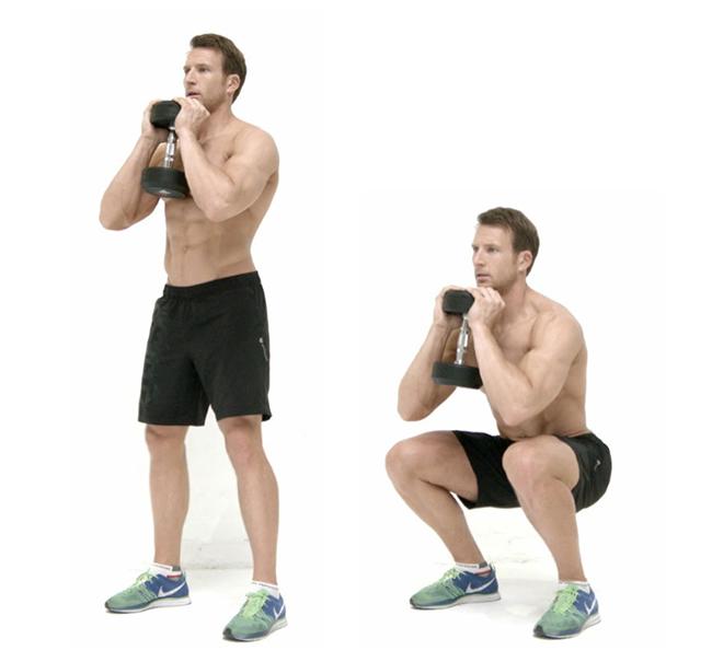 4 bài tập biến thể của squat dành cho phái mạnh
