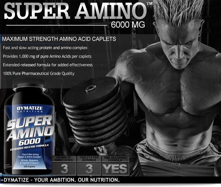 Tìm hiểu về thực phẩm bổ sung khi gym Super Amino 6000